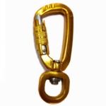 Aluminum climbing  locking carabiner snap hooks