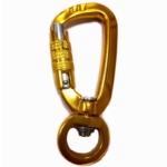Aluminum swivel locking snap hook carabiner wholesale