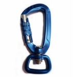 Auto locking high strength carabiner for dog leash