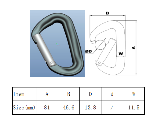 straight gate carabiner factory