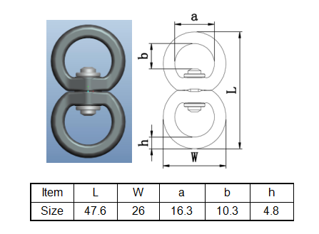 swivel eye connector