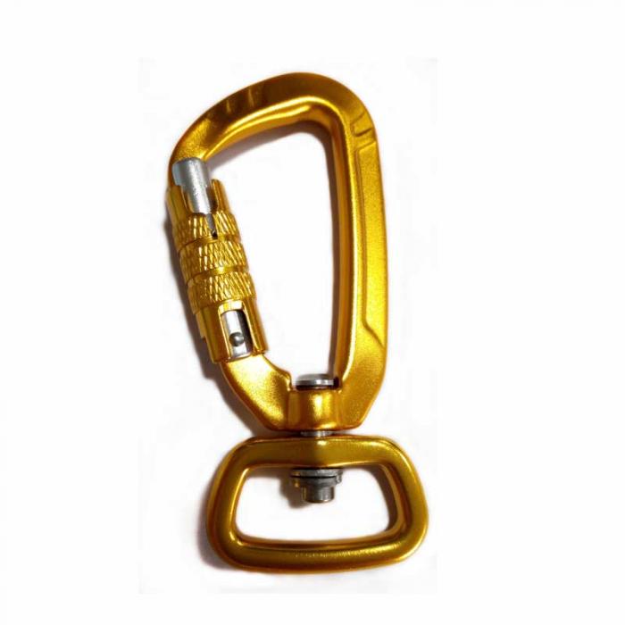 gold carabiner