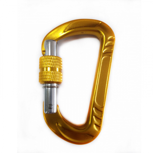 aluminium alloy colorful screw type hammock carabiners