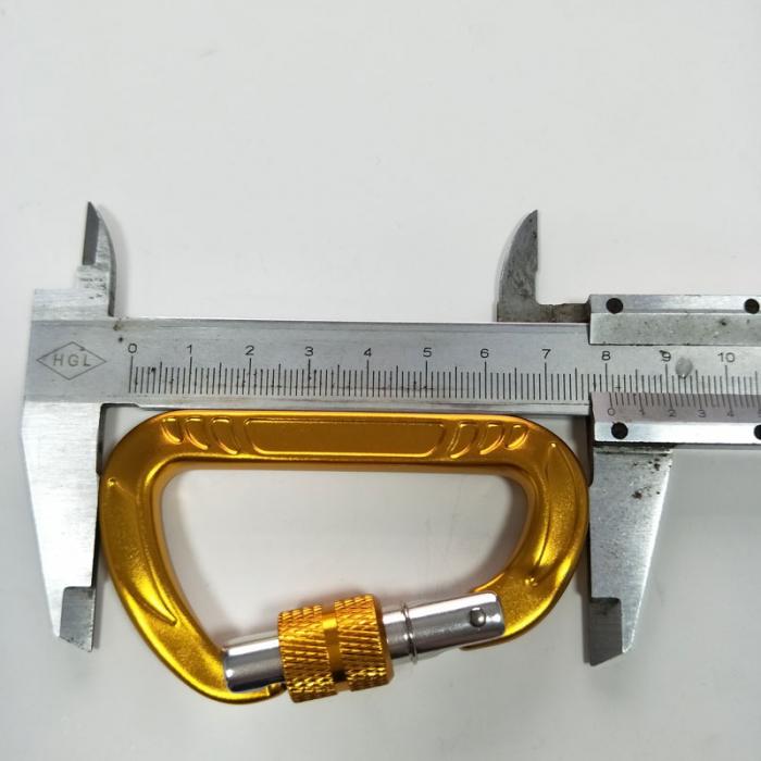 aluminum carabiner with screwlock