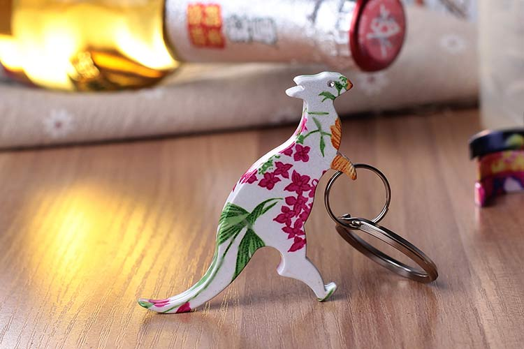Custom Kangaroo can opener bottle opener keychain no minimum