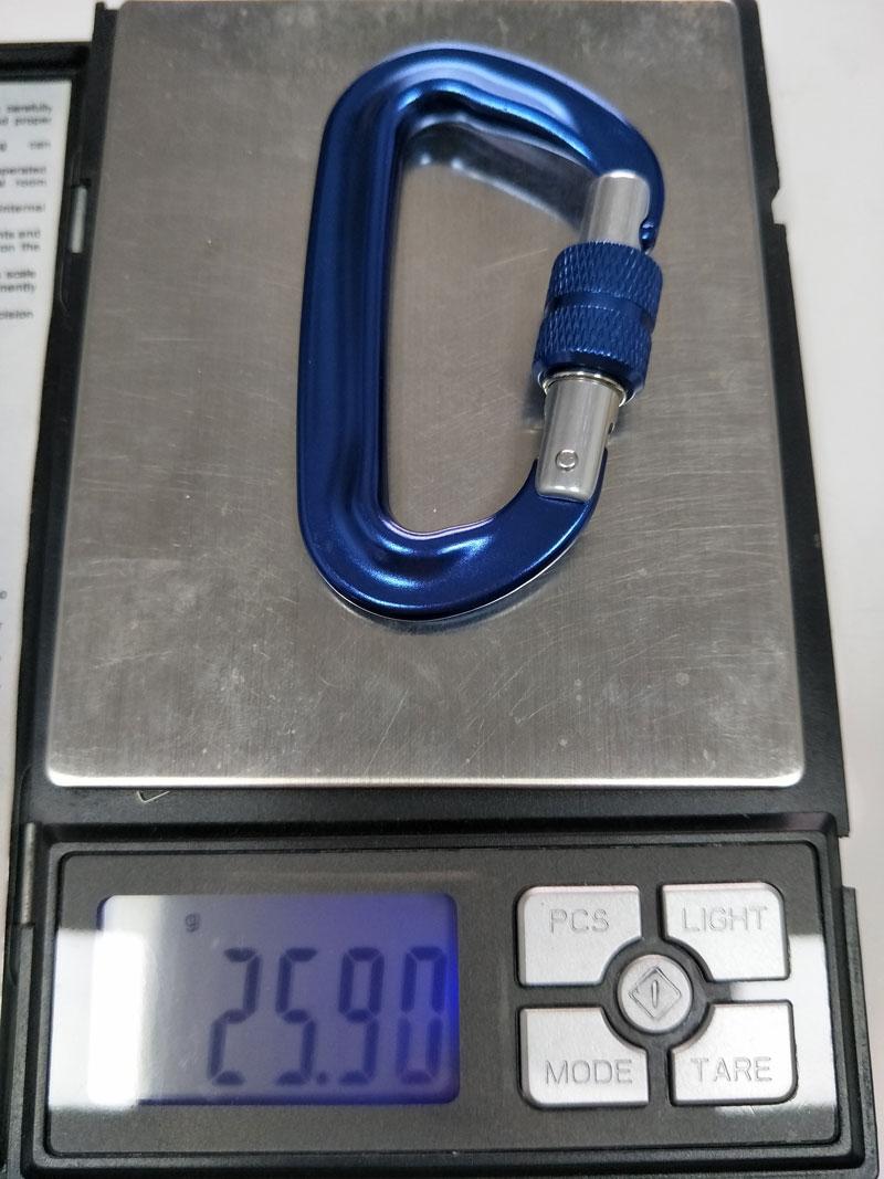 aluminum screw-locking carabiner