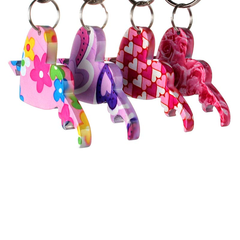 heart and arrow shaped custom beer bottle opener keychains