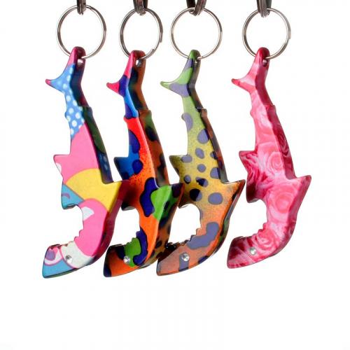 shark bottle opener keychain