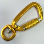 15MM aluminum metal locking carabiners for pet lead