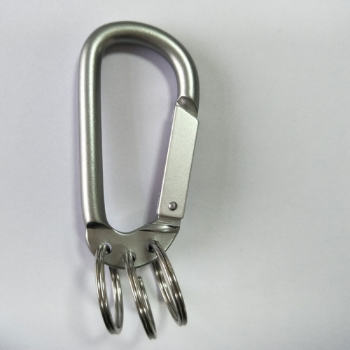 aluminum carabiner key ring