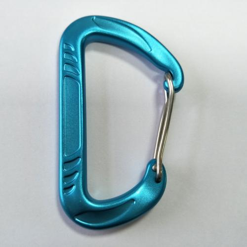 blue aluminum carabiner