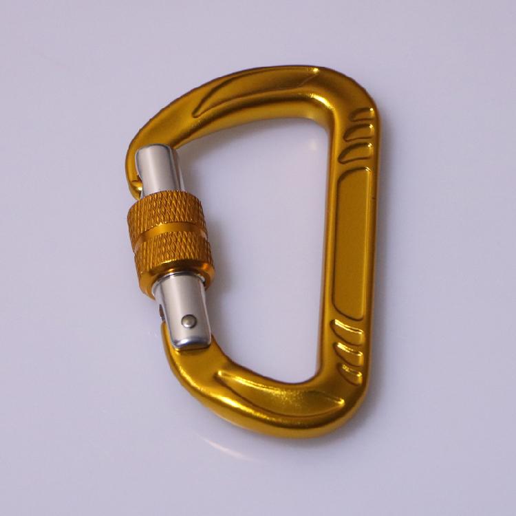 yellow carabiner