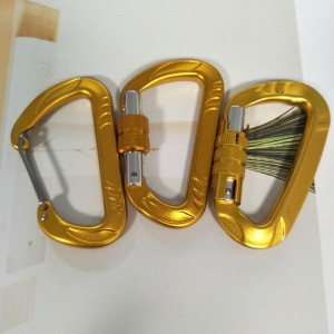 camping aluminum screw lock snap clip carabiner
